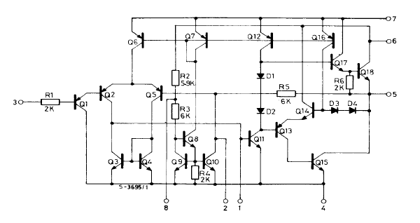 the design of the stella amp crazy but able the internal schematic for the tba820m amplifier chip